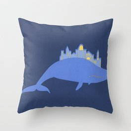 Whale City Throw Pillow