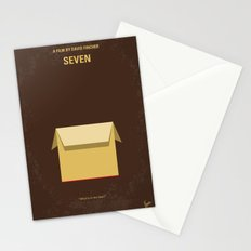 No233 My Seven minimal movie poster Stationery Cards