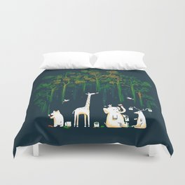 Re-paint the Forest Duvet Cover
