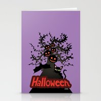 halloween Stationery Cards featuring Halloween by BATKEI
