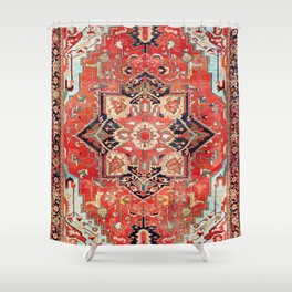 Heriz Azerbaijan Northwest Persian Rug Print Shower Curtain