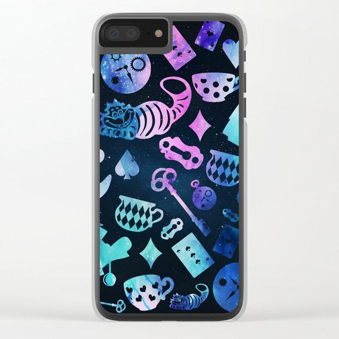 Alice in Wonderland - Galaxy Clear iPhone Case