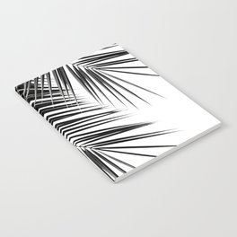 Black Palm Leaves Dream - Cali Summer Vibes #2 #tropical #decor #art #society6 Notebook