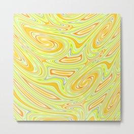 Mellow Yellow Abstract Metal Print