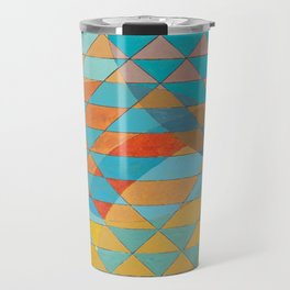 Triangle Pattern No. 11 Circles Travel Mug