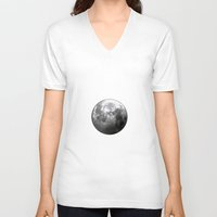 luna V-neck T-shirts featuring Luna by Claudia Martin