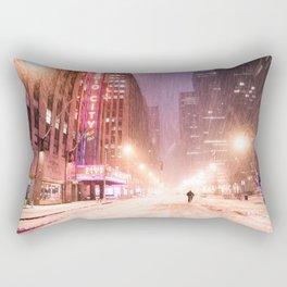 Snowstorm in New York City Rectangular Pillow