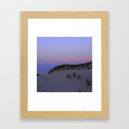 Nighttime at the Beach Framed Art Print