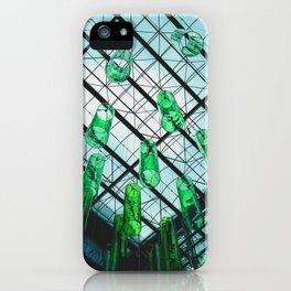 Green Bottles Hanging from the Ceiling iPhone Case