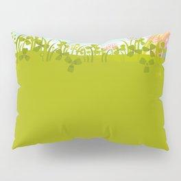 Sunny Day. Clovers. Pillow Sham