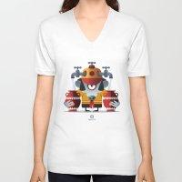 aquarius V-neck T-shirts featuring AQUARIUS by Angelo Cerantola