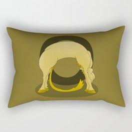 Pony Monogram Letter O Rectangular Pillow