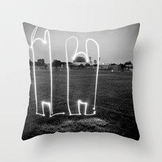 The Wave W/JMR1 Throw Pillow