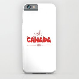 Oh Canada Day (Handlettered) iPhone Case
