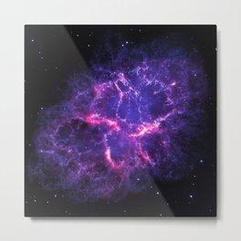 Pink Purple Crab Nebula Metal Print