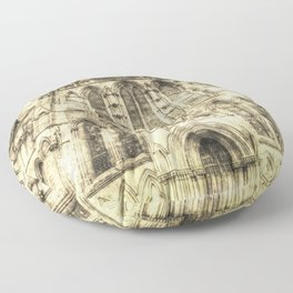 York Minster Cathedral Vintage Floor Pillow