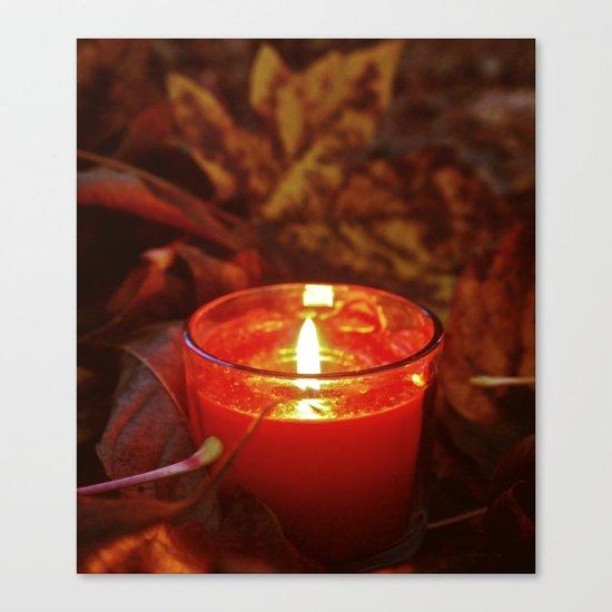 Autumn candlelight  Canvas Print