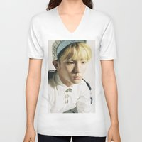shinee V-neck T-shirts featuring Key - SHINee by Felicia