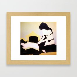 Man and woman Framed Art Print