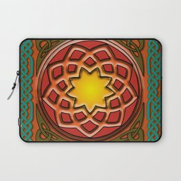 Celtic Knotwork panel in Persian Green Laptop Sleeve