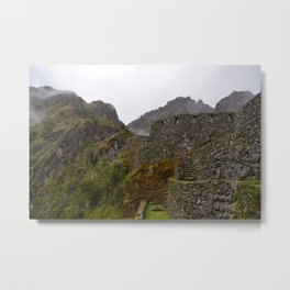 Sayacmarca an ancient Inca ruins along the Inca trail Metal Print