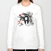 subaru Long Sleeve T-shirts featuring Japanese Geisha Warrior by viva la revolucion