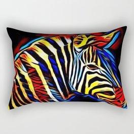 RainbowZebra Glow Rectangular Pillow