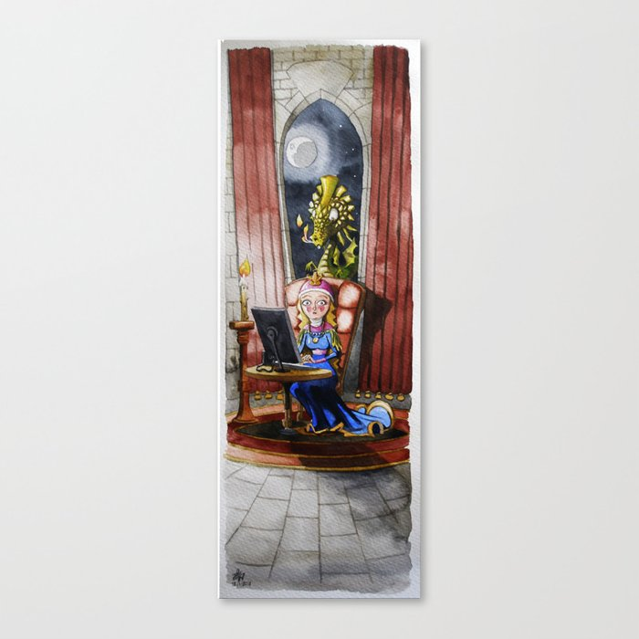 Where my Prince will be Canvas Print