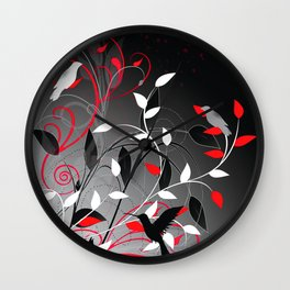 Nature in sihlouette Wall Clock