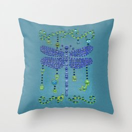 Dragonfly in Turquoise Throw Pillow