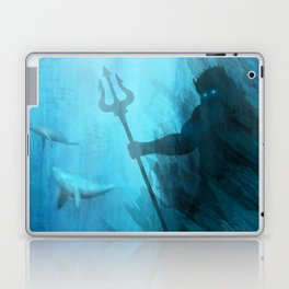 Scuba Diver meets Poseidon  Laptop & iPad Skin
