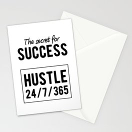 Inspirational - Secret For Success Stationery Cards
