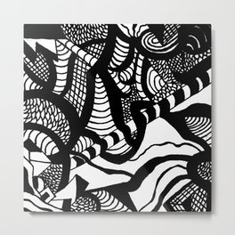 Zentangle #18 Metal Print