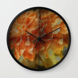 Dahlia Art Wall Clock