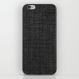 Grey striped parchment texture abstracts iPhone Skin