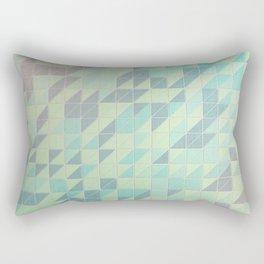 Beveled Triangles  Rectangular Pillow