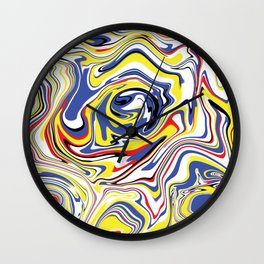 Cool Liquefied Marble Colorful Wall Clock