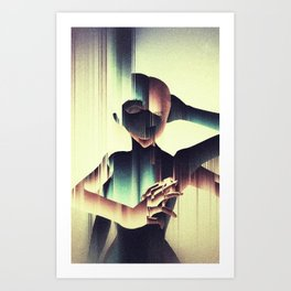 Two Heads: Surreal digital art Art Print