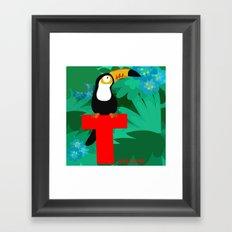 t for toucan Framed Art Print