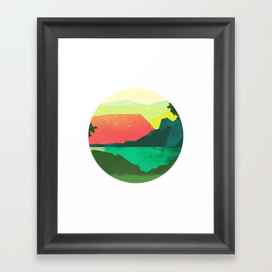 Circlescape Framed Art Print