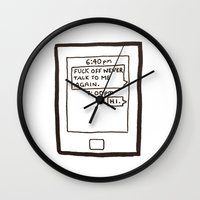 text Wall Clocks featuring Text by itishazel