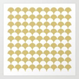 Fan Pattern 321 Gold Art Print