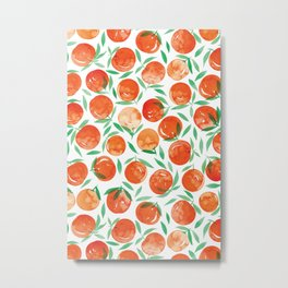 Winter Oranges | White Background Metal Print