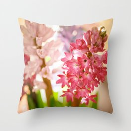 Hyacinth Sunray Throw Pillow