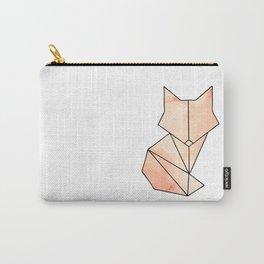 Geometric Fox - Orange Carry-All Pouch