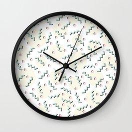 Old School Retro Funky Memphis 80's Pattern Wall Clock