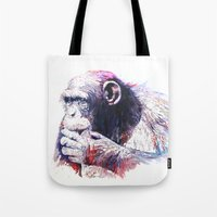 monkey island Tote Bags featuring Monkey by Cristian Blanxer