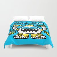 gaming Duvet Covers featuring Gaming Yeti by SAfdaf