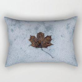 Frozen in Time - Maple Leaf, Austria Rectangular Pillow