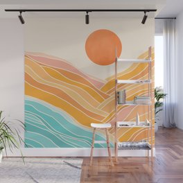 Adventure On The Horizon / Abstract Landscape Wall Mural